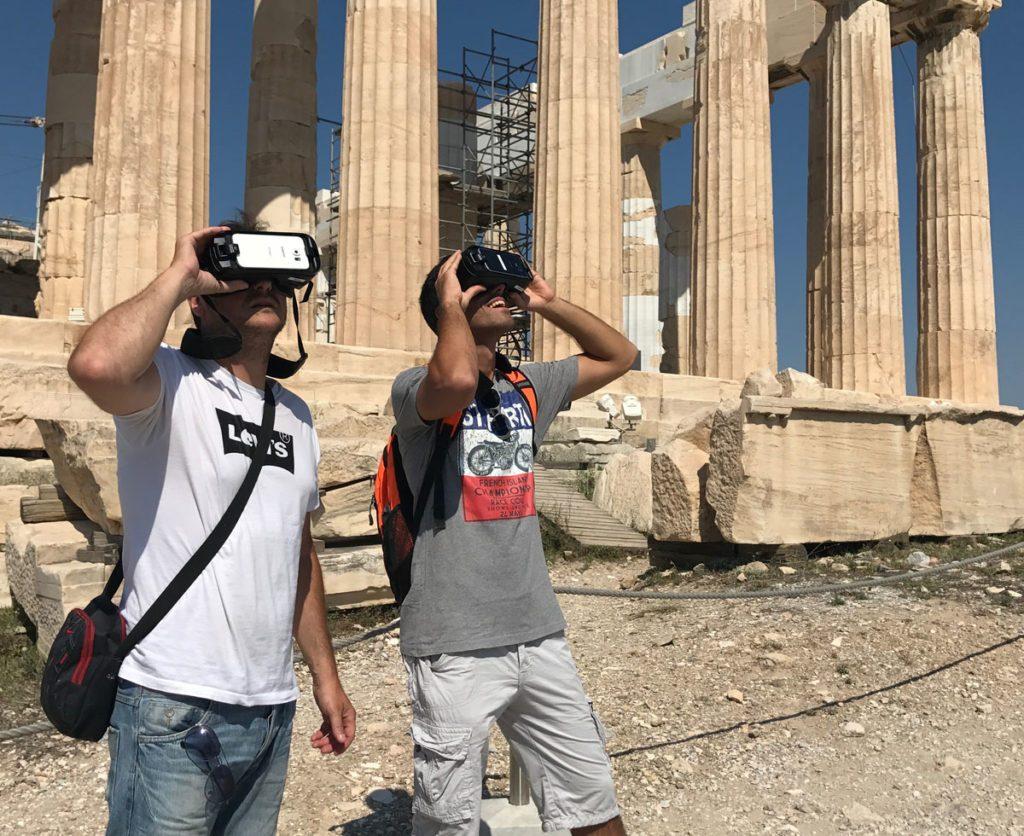סיור באקרופוליס עם משקפי מציאות מדומה