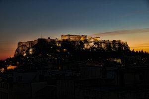 אקרופוליס באתונה בלילה