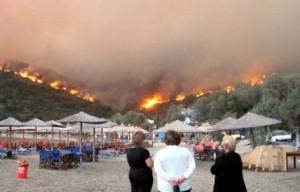 שריפות גדולות אירעו היום ברודוס, כרתים וסריפוס