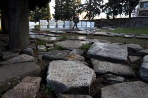 שרידי המצבות שנמצאו בסלוניקי