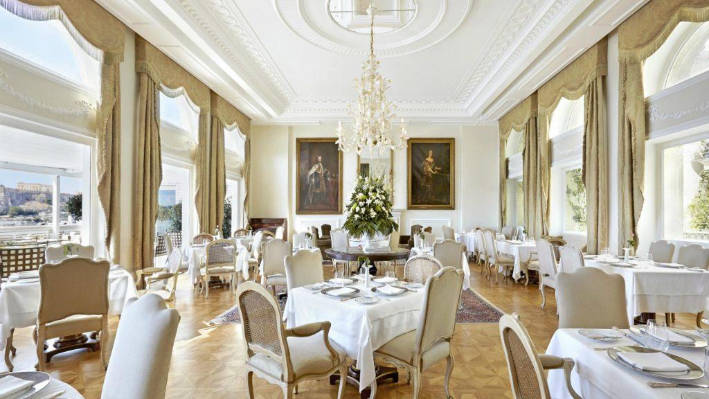 חדר אוכל במלון קינג ג'ורג' אתונה