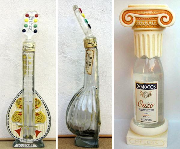 בקבוקי אוזו מעוצבים