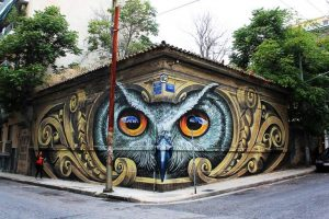 ציור הקיר הינשוף של אתונה