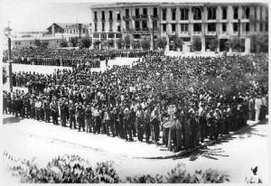 """""""שבת השחורה"""", הגרמנים ציוו על אלפי יהודים לצאת לכיכר בסלוניקי"""